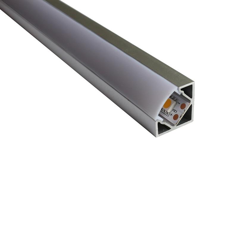 20PCS alumini LED me gjatësi 1 milion Profili i transportit Transporti falas i kanalit të aluminit të rripit të udhëhequr - Artikulli Nr. Profili i qoshes së udhëhequr nga LA-LP18