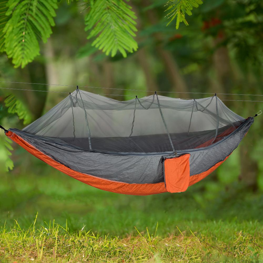 Portable Outdoor Hammock 1-2 Person Camping Survival Garden Swing Hunting Hanging Sleeping Chair Hammock Travel Outdoor Hammocks