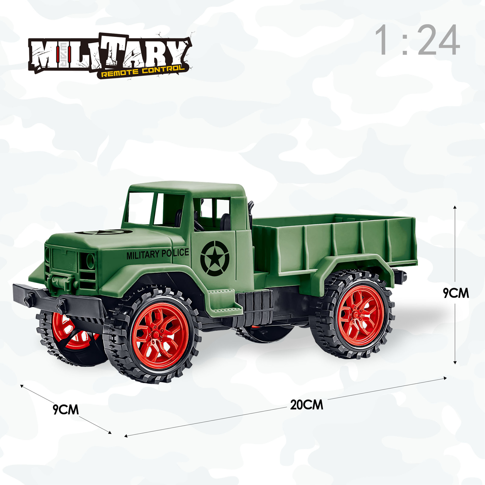 Image 3 - Ertong Remote Control Military Truck Four wheel Off road Military Truck Model Toys Children's Puzzle Gifts Hot selling Toys-in RC Cars from Toys & Hobbies
