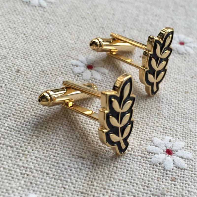 masonic Sprig of Acacia Hiram Abiff Leaf cufflinks for mens free mason men cuff links sleeve button masonry luxury men button
