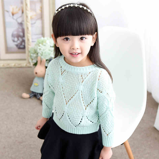 Knitted Sweater Baby Girl Hollow Infant Girl 8 Years