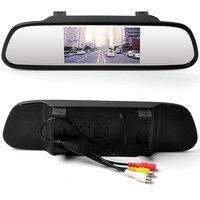 YiKA новый дизайн Viecar автомобильный зеркальный монитор заднего вида HD видео авто монитор парковки TFT ЖК-экран 4,3 дюймов дисплей зеркальный мон...