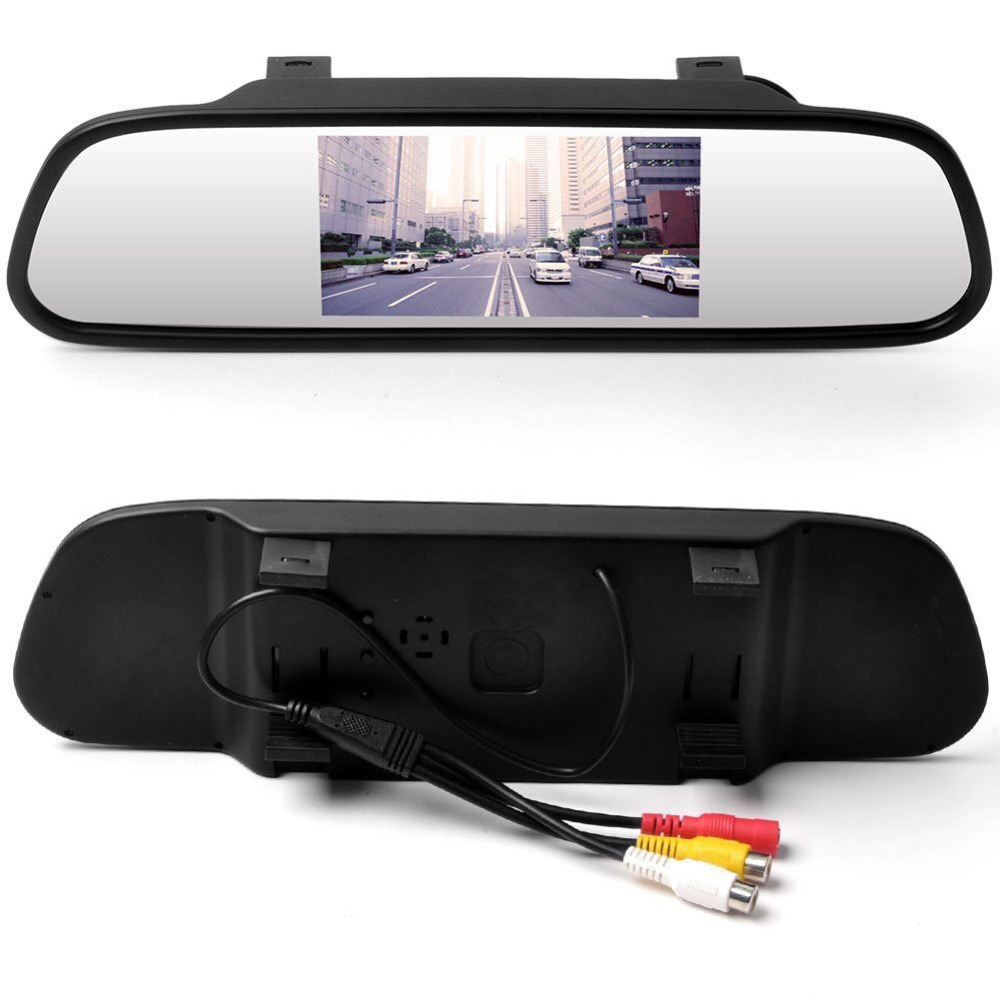 YiKA New Design Viecar Car Rearview Mirror Monitor HD Video Auto Parking Monitor TFT LCD Screen 4.3 inch display Mirror Monitor
