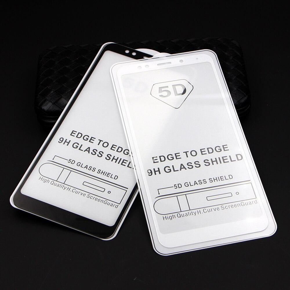 5D Curved Full Cover Tempered Glass Xiaomi Redmi Note 5 Pro Mi6 Mi A1 5 Plus Xiomi Redmi 4X 4A 5A Mi Note 4 Mi6x Full Glue Glass