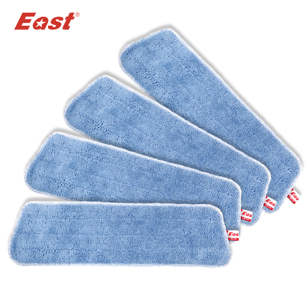 Øst 4 stk / lot Microfiber Mop Cloth Refill for Trapezoid Flat Telescopic Mop