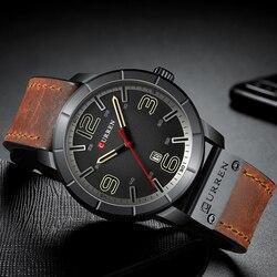 CURREN 8327 Brand Quartz Military Waterproof Wristwatch Date Relogio Masculino Leather Men's Watch Mens Clock Relogio Homem