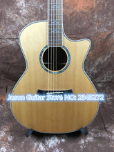 """Chinese factory + latest + handmade 40 """", Chaylor 8 14 solid spruce top rosewood on both sides and back + Free Shipping"""
