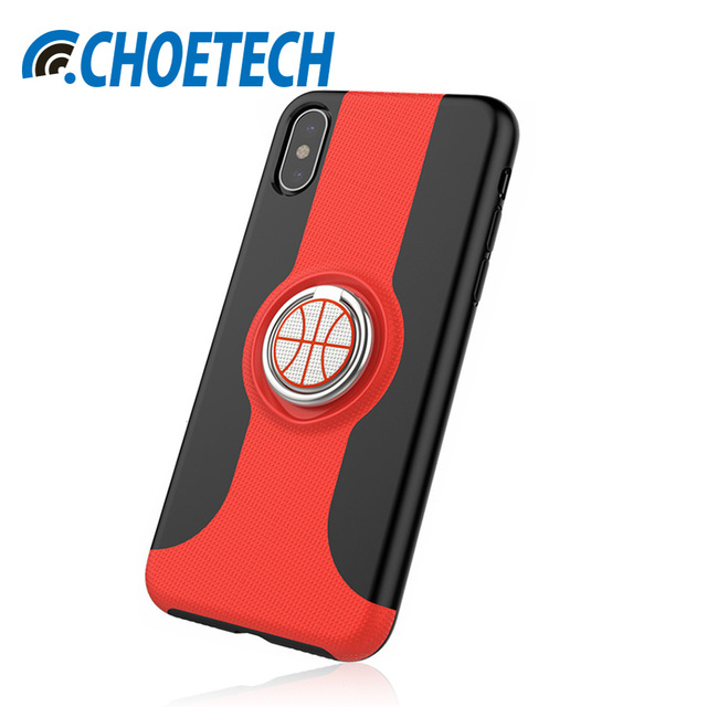 best sneakers 81470 3aa74 US $9.99 |CHOETECH For iPhone X Case With Finger Ring Holder Kickstand  Compatible With Magnetic Car Mount For iPhone 10 5.8 inches -in Fitted  Cases ...