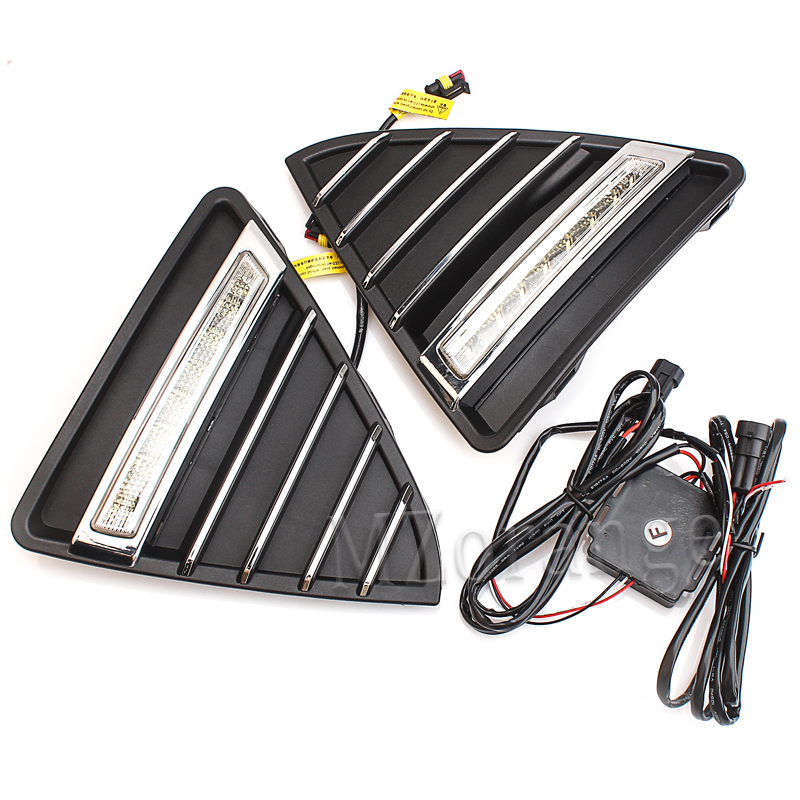 2Pcs Car LED DRL Daytime Running Lights with Dimming Light Function for Ford Focus 3 2012