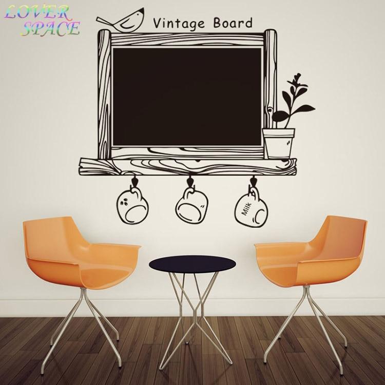 Creative Kitchen Wall Decor: New Creative Kitchen Office Chalkboard Wall Decor Removable Waterproof Vinyl Wall Stickers