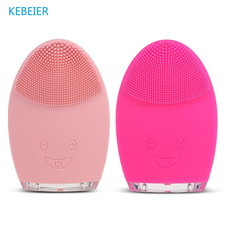 Mini Electric Face Cleansing Brush Rechargeable Silicone Facial Cleansing Deep Pore Cleaning Water-Resistant Vibrating MassagerMini Electric Face Cleansing Brush Rechargeable Silicone Facial Cleansing Deep Pore Cleaning Water-Resistant Vibrating Massager