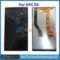 """Alta qualidade 5.5 """"para htc one e9 módulo de display lcd e tela de toque digitador assembléia cor preta frete grátis"""