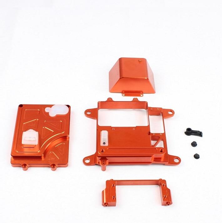 CNC metal Battery box kit for 1 5 hpi rovan km baja 5b 5t 5sc rc