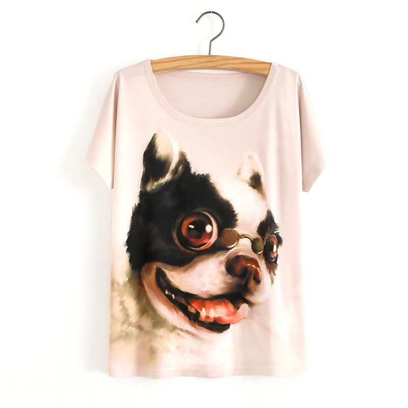 HTB1SwGIOVXXXXc9apXXq6xXFXXXc - White Tiger 3D Print T-Shirt Women Summer Clothes