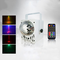 Laser Light Projector Mini Red Green Lazer DJ Remote Conntrol 60 Patterns RGB LED Magic Disco Ball Lighting for Party Holiday