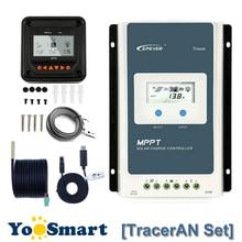 EPever Tracer 10A 20A 30A MPPT солнечный регулятор заряда 12 в 24 в ЖК-контроллер 100 в PV отрицательный заземление с MT50 TS-R RS485