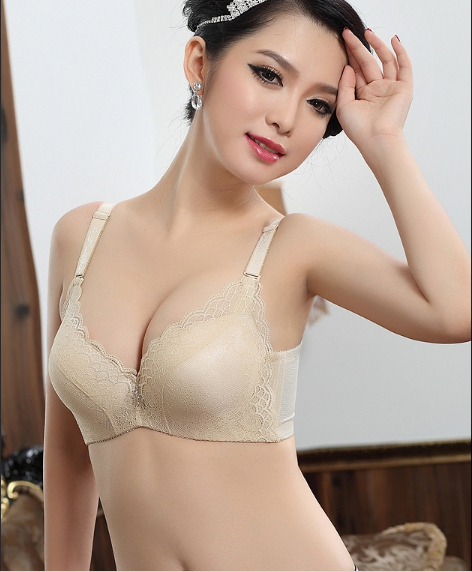 6dc5b8cae3517 New jacquard lace gather adjustable thick plump straight stereotypes cup  bra free shipping pushdown 11G51017 bra set-in Bra   Brief Sets from  Underwear ...