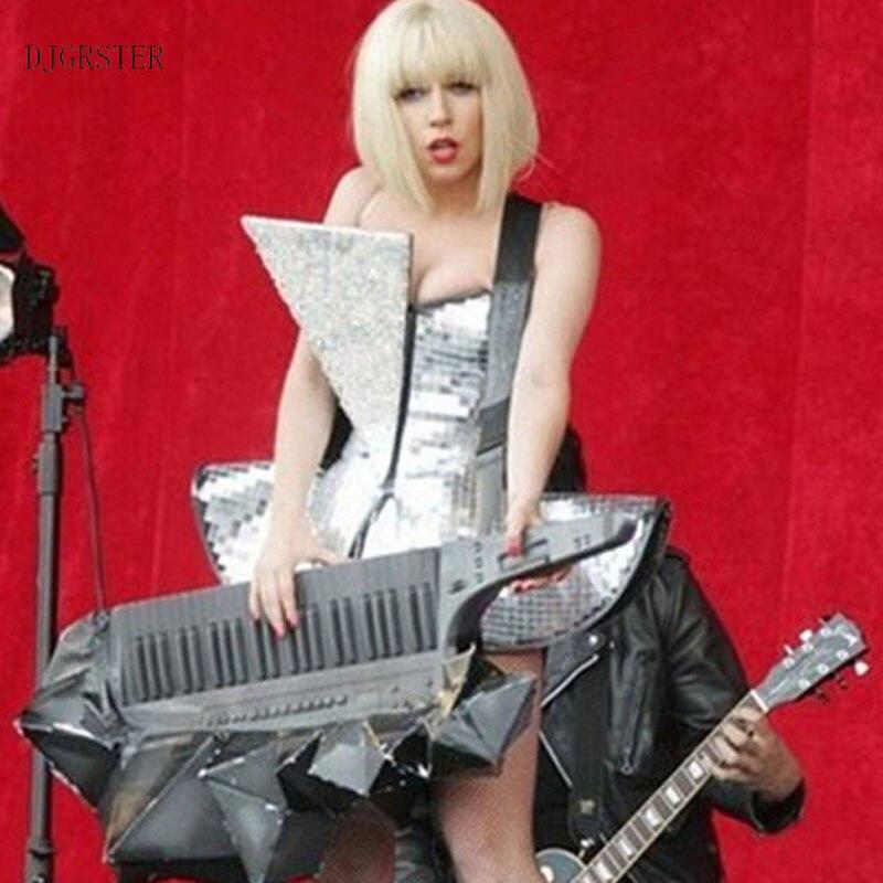 DJGRSTER Нов стил горещо продадени ръчно изработени сребърни светлоотразителни лещи Джаз танцов костюм ds пайети леко сценично шоу боди