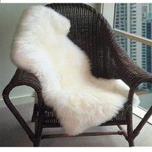 Искусственный коврик мягкий пушистый Манта ковер Alfombra Овчина Коврик для стула подушка для сиденья Обычная кожа мех простой пушистый уголок коврики моющиеся для спальни