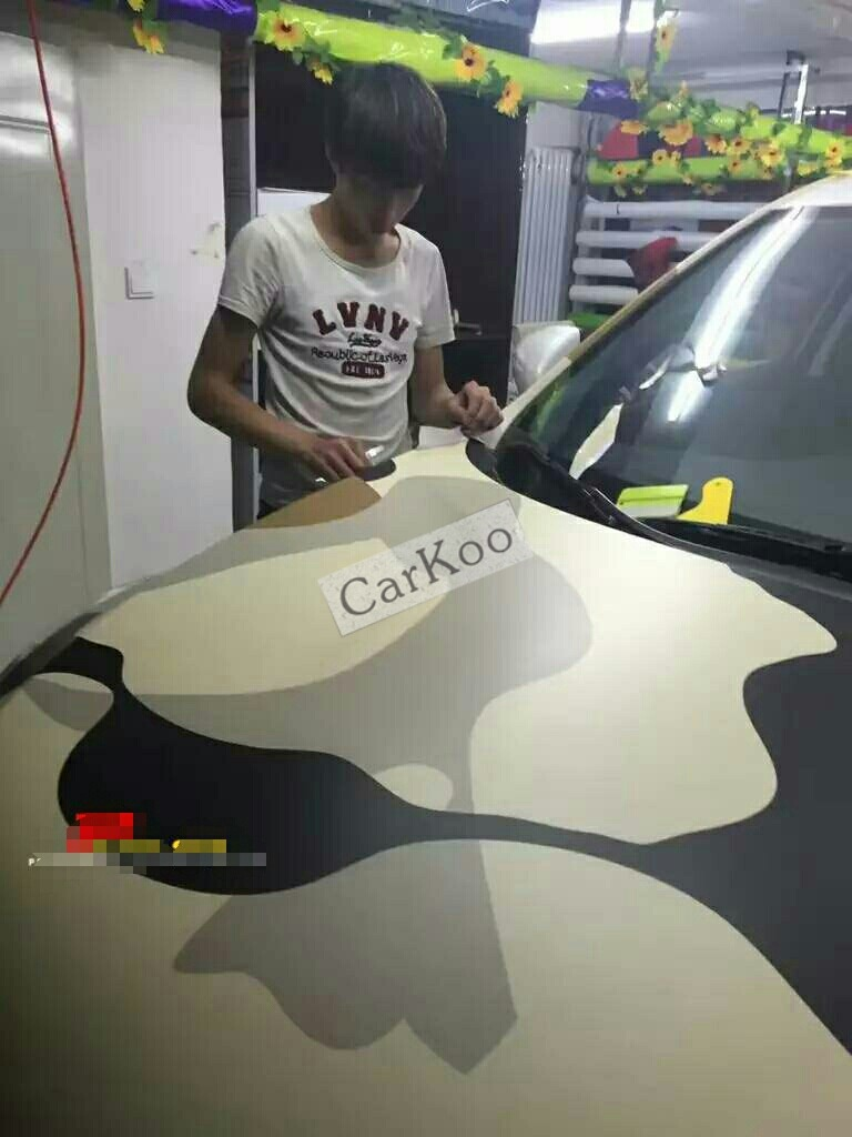 Big camouflage custom car sticker bomb camo vinyl wrap car wrap with air release bomb sticker