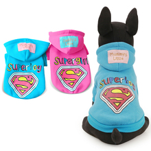 PETCIRCLE New 2017 Pet Dog Autumn and Winter Dog Hoodie Rainbow Superman Hoodies Pet Teddy Clothes Puppy clothes size XS S M L