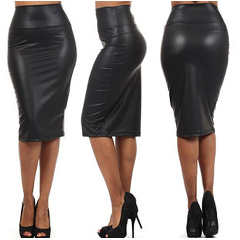 Popular High Waist Leather Skirt-Buy Cheap High Waist Leather ...