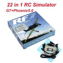 22 в 1 RC авиамодельного симулятора(8in1 USB моделирования для Realflight Поддержка G7.5 G7 G6.5 G5 Flysky FS-I6 TH9X Phoenix5