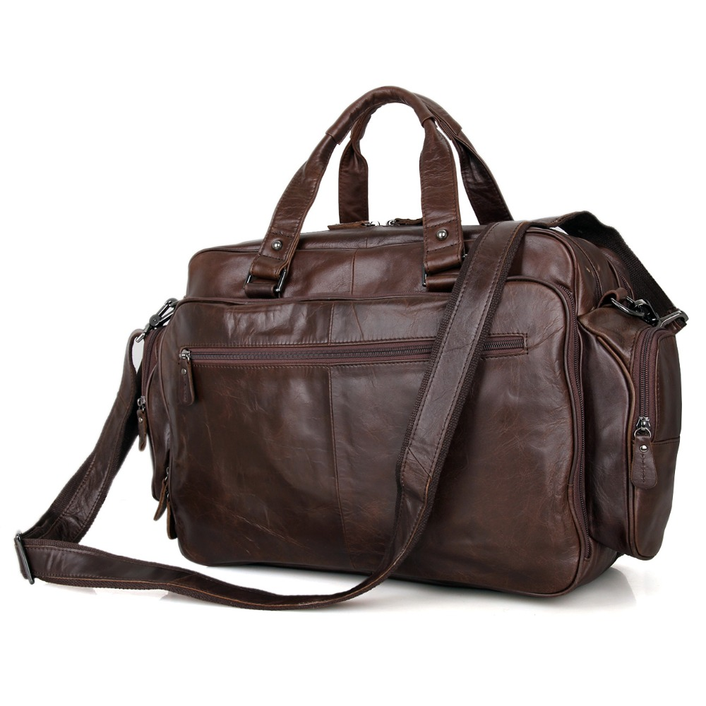 J.M.D Nieuwe collectie Manly Real Leather Trendy Reistassen Handtas - Trolley en reistassen - Foto 4