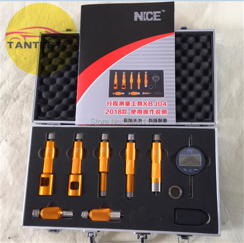 common rail injector nozzle valve measuring tool for Bossch and Densso injector nozzles, common rail injector repairing tools defute original 0445110293 common rail injector assembly built in f00vc01359 valve components dlla150p1666 diesel nozzle