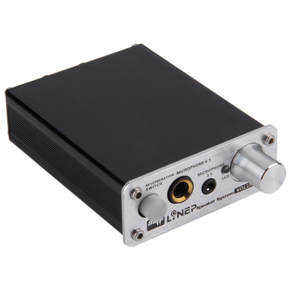 Professional HIFI Microphone Amplifier Dual 2 Channel Audio Stereo Amplificador Computer MP3 PC Microphone MIC Power