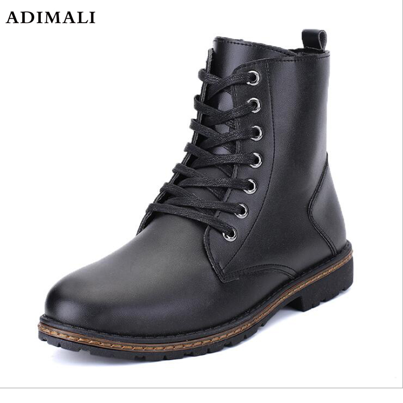 Autumn New Genuine Leather Martin shoes flat Comfortable Men's High help shoes Cow Leather Thick Rubber Sole Casual shoe outdoor