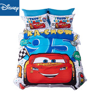 disney cartoon bedding lightning Mcqueen car bed linen kid home textile autumn winter bedspread queen size bed set 4pcs hot sale