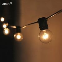 ZINUO3M 10LED Fairy String Light AC220V G40 Bulb LED String Globe Ball Garland Patio Outdoor Christmas