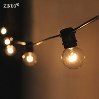 ZINUO3M 10LED Fairy String Light AC220V G40 Bulb LED String Globe Ball Garland Patio Outdoor Christmas