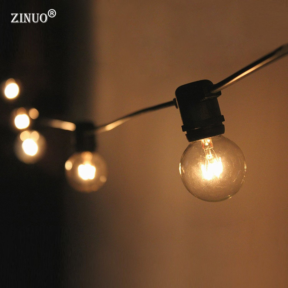 ZINUO3M 10LED Fairy String Light AC220V G40 Bombilla LED String Globe - Iluminación de vacaciones