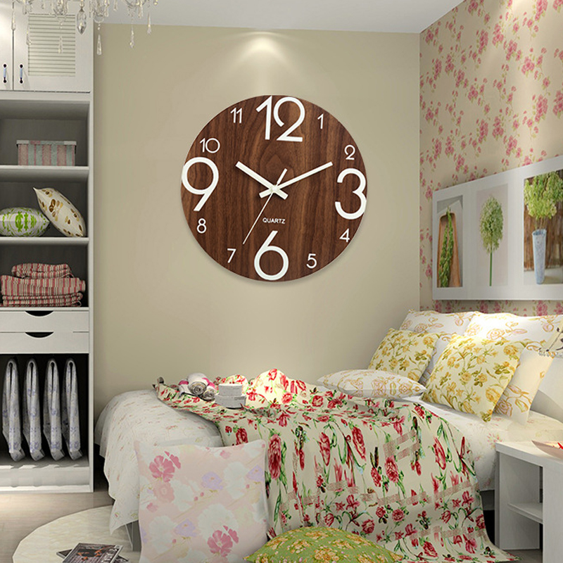 New 3D Luminous Hanging Clock Acrylic Brief Digital Number Wall Clock Silent Clock Glow Dark Acrylic Quiet DIY Wall Clock Modern