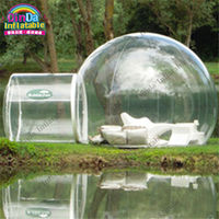 Guangzhou Factory Inflatable Lawn Dome Hiking Tents,Inflatable Transparent camping Tents Inflatable Bubble Dome Tent