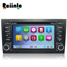 Car 2 Din  DVD GPS Stereo Device Head Unit Navigation Radio Player for Audi A4 S4 RS4  2002-2008