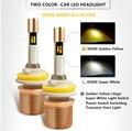 Actualizado Lumiled Chips LED de la Linterna 3000 K 6000 K Todo En Una Bombilla de 40 W 5500Lm H1 H3 H4 H7 H11 9005 HB3 HB4 9006 Del Coche Del LED faro