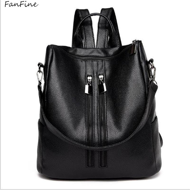 FanFine New Fashion Backpack Simple Leisure Backpack Student School Bag Rucksack Mochila Escolar Backpack For Women Girl