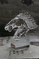 Sweety Clear Animal Nice Elegant Horse Unique Wedding Souvenir Gifts Crystal Horse With Base