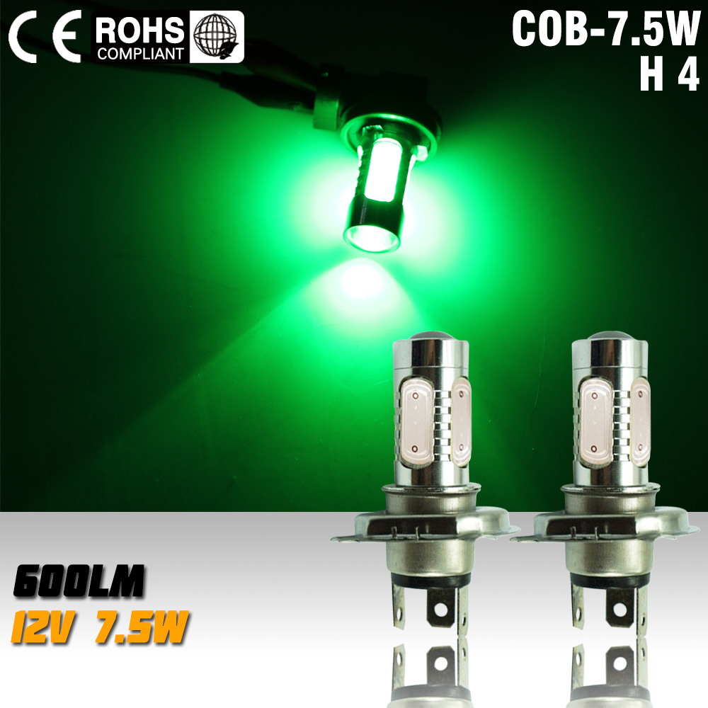 2pcs led h4 7.5w high power led bulb Fog Bulb Light Lamp led bulb LED Turn Brake Stop Signal Tail fog light green
