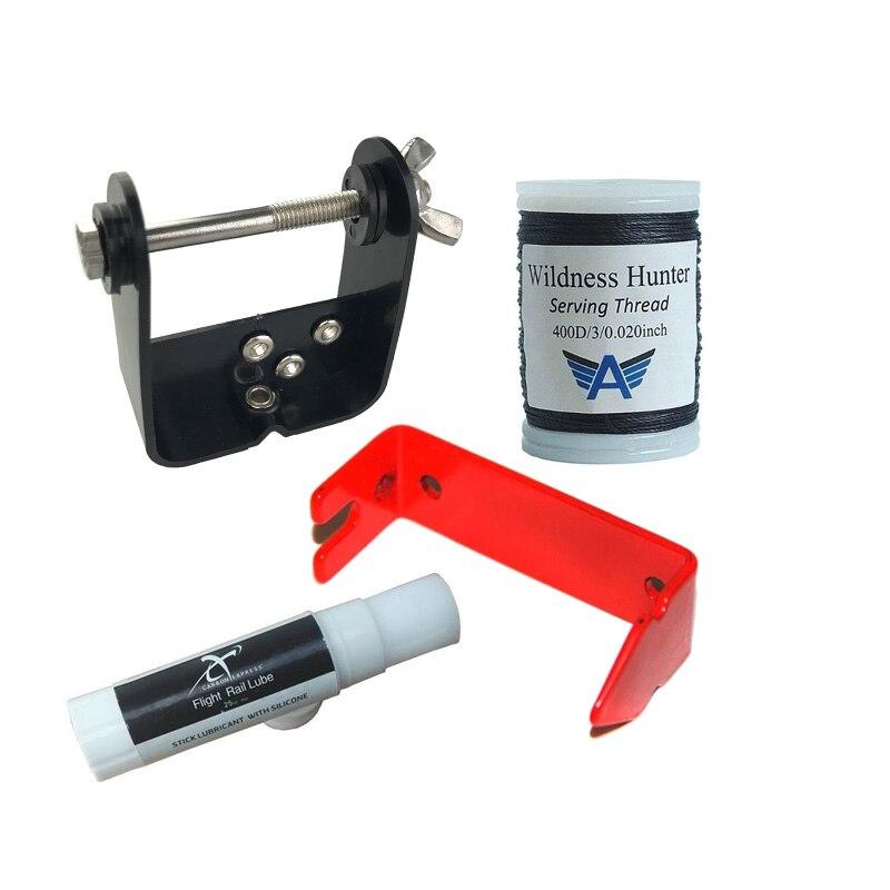 Archery Bow String Serving Kit Serving Jig Tool Material BowString Wax Separator ken jennings serving leaders