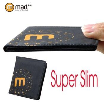 New Super Thin Ultra Slim Bifold Slimline Wallet Vintage Money Female Short Purse Mini Coin Case Pocket Male Men Women Small Boy