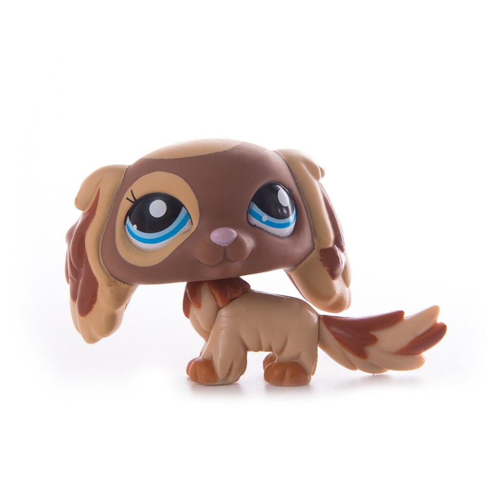 New Pet Shop Lps Toy Dog Collection Standing Short Hair Cat Cocker Spaniel Collie Dachshund Great Dane White Pink Littlest