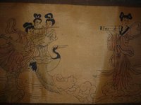 Collectable Chinese Old Scroll Painting Tour the moon,Hand painting, Art work /Decoration, 400CM Long, Free Shipping