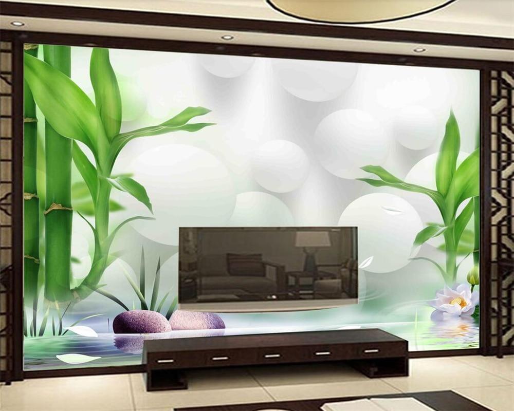 background bedroom living rich tv 3d custom walls bamboo beibehang zoom murals wallpapers