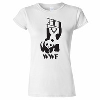 Tee4U Custom T Shirts Online Crew Neck Wwf Panda Wrestling Spoof Gift O Neck Short Sleeve