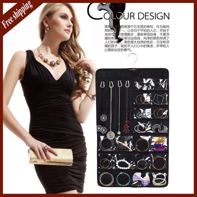 Top Quality Jewelry Display Portable Many Pockets Dress Hanging