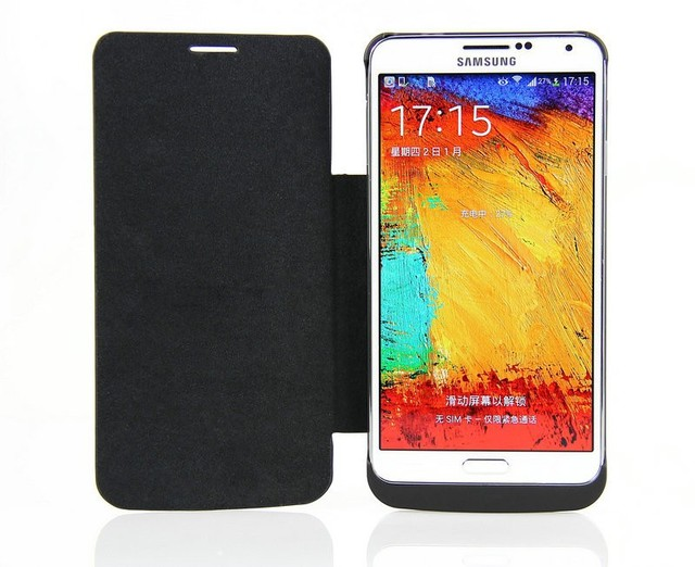 4200mAh Battery Charger Power Case for Samsung Galaxy Note 3 Note3 Note III N9000 Extended Rechargeable Battery Leather Case